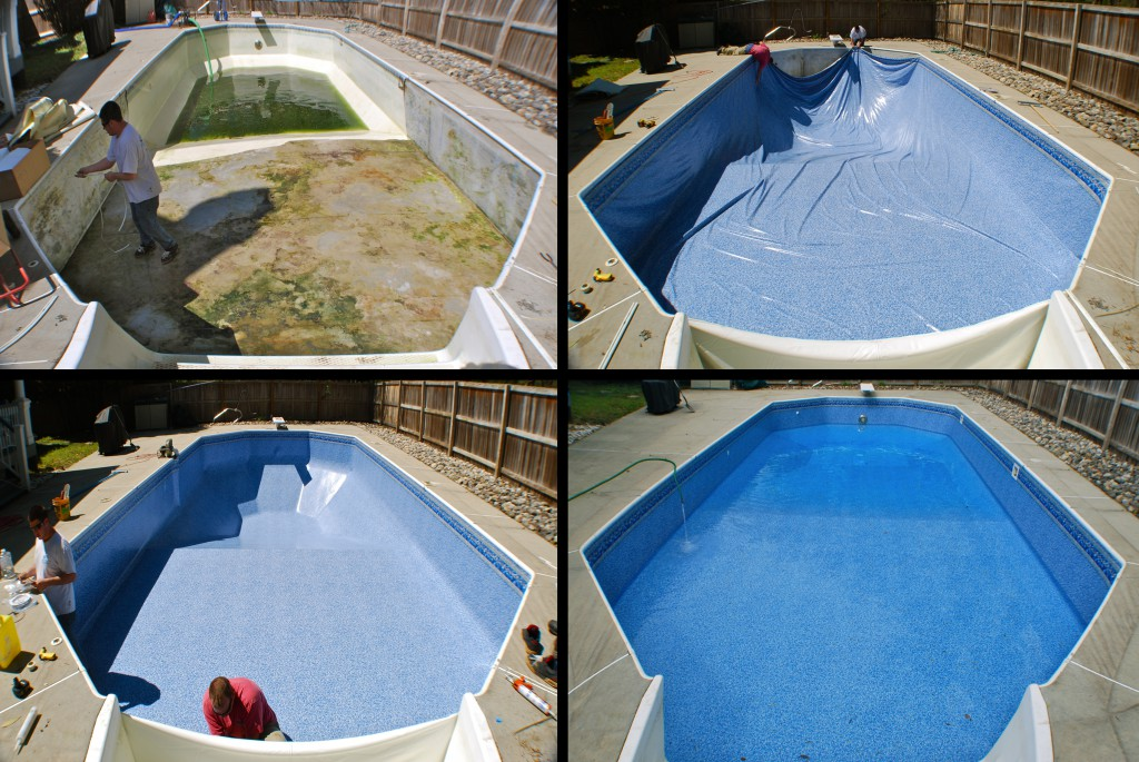 Vinyl Pool Liner Installation Virginia Beach Chesapeake Portsmouth Norfolk Before And