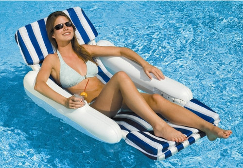 SunChaser-Padded-Floating-Luxury-Chair-Pool-Lounger-10010SL  sc 1 st  Aqua Leisure Pools & Pool Loungers and Floats- Aqua Leisure Pools